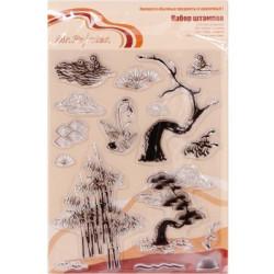 Китайские мотивы №2, набор штампов 14*18 см Mr. Painter