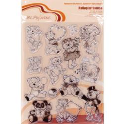 Мишки №2, набор штампов 14*18 см Mr. Painter