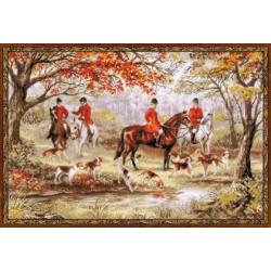 Охота на лис, набор для вышивания крестиком, 60х40см, мулине хлопок Anchor 30цветов Риолис