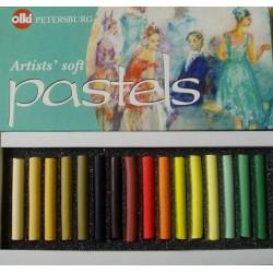Пастель художественная 16 цветов Ассорти №3 Olki
