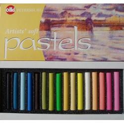 Пастель художественная 16 цветов Ассорти №10 Olki