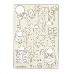 Ключики, чипборд 11,5*16,5 см Mr. Painter