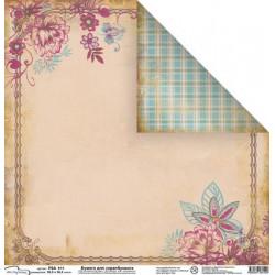 Летний блюз, бумага для скрапбукинга 30.5x30.5 см, Mr. Painter