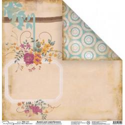 Летний блюз, бумага для скрапбукинга 30.5x30.5 см, Mr.Painter
