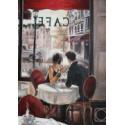 Романтический обед, набор для изготовления картины стразами 27х38см 33цв. полная выкладка Гранни
