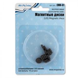 Ферритовые(керамические) магнитные диски, d9.5мм, 15шт. Mr. Painter