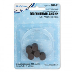 Ферритовые(керамические) магнитные диски, 10шт. Mr. Painter