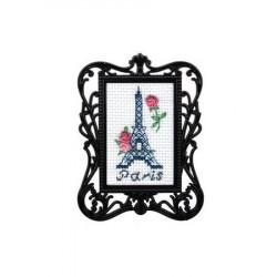 Париж, набор для вышивания крестиком с рамкой, 3,5х5,5см, мулине DMC хлопок PTO