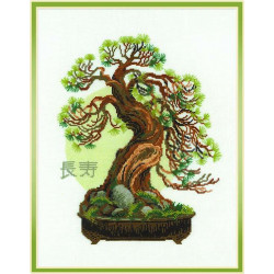 Пожелание долголетия, набор для вышивания крестиком, 35х45см, нитки шерсть Safil 13цветов Риолис