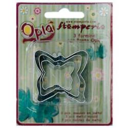 Бабочки, металлические формочки д/создания 3D элементов, 3 шт
