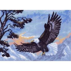 Парящий орел, канва с рисунком для вышивки нитками 33х45см. Матрёнин посад