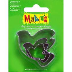 Makins  Набор резцов для полимерной глины, Голубь, в комплекте 3 шт