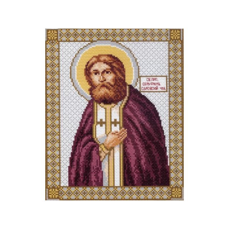 Вышивка крестом иконы серафима саровского 82