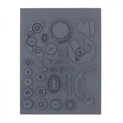 Шестеренки, штамп резиновый 10.5х14 см. Craft&Clay