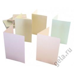 Набор заготовок для открыток с конвертами, формат А6 50 шт. перламутровый 5 цветов