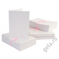 Набор заготовок для открыток с конвертами формат А6 100 шт. белый