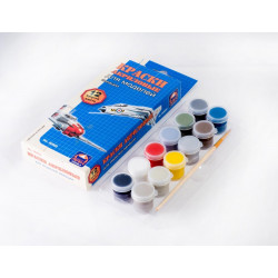 Для росписи моделей Авиации, набор матовых акриловых красок с кисточкой, 12шт*4 мл. Аква-Колор