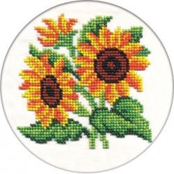 Цветы солнца, набор для вышивания бисером, 13х13см, 9цветов Кларт