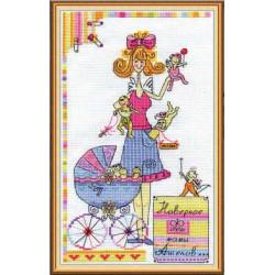 Наверное, феи-мамы ангелов..., набор для вышивания крестиком, 17х28см, 17цветов Panna