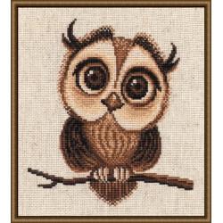 Филимоша, набор для вышивания крестиком, 18х19см, мулине хлопок 7цветов Овен