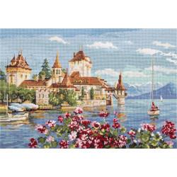 Альпийская баллада, набор для вышивания крестиком, 36х24см, 32цвета Panna