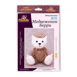 Медвежонок Берри, набор для шитья 14см. Miadolla