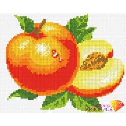 Персик, набор для изготовления картины стразами 23х18см 11цв. полная выкладка, АЖ