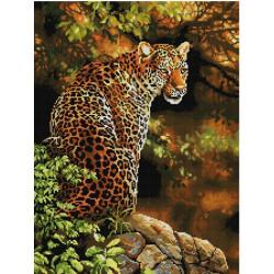 Леопард, набор для изготовления мозаичной  картины, 42х56см. Anya