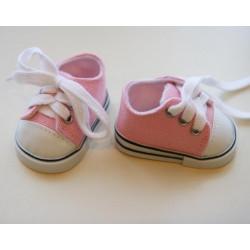 Кеды розовые, длина стопы 7см. Кукольная обувь