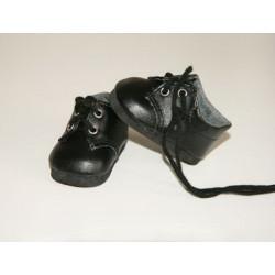 Ботинки черные, длина стопы 7см. Кукольная обувь