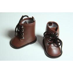Сапожки коричневые, длина стопы 7см. Кукольная обувь