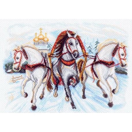 Вышивка матренин посад лошадь