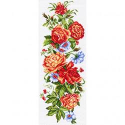 Гирлянда Флоры, канва с рисунком для вышивки нитками 40х90см. Матрёнин посад