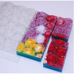 Розы под нарезку, пластиковая форма XD