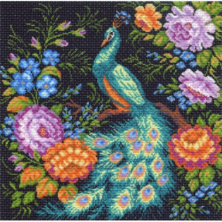 Жар птица, канва с рисунком для вышивки нитками 41х41см. Матрёнин посад