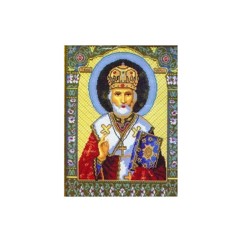 Николай чудотворец вышивка нитками 61