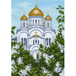 Преображенский собор, канва с рисунком для вышивки нитками 37х49см. Матрёнин посад