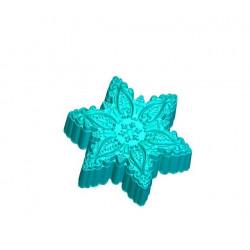 Снежинка ажурная, 3D силиконовая форма для мыла