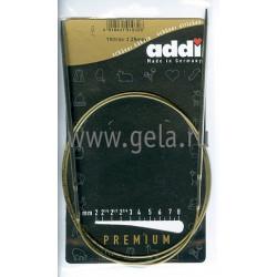 Спицы, круговые, супергладкие, никель, №3,25, 100 см, Addi