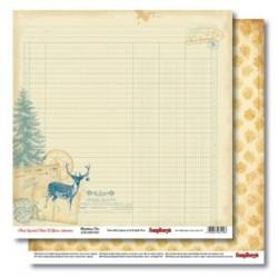 С Рождеством! Письмо Деду Морозу, бумага для скрапбукинга 30.5x30.5 см