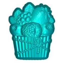 Кекс с фруктами, 3D силиконовая форма для мыла