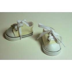 Кеды бежевые, длина стопы 7см. Кукольная обувь