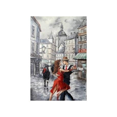 Танго в городе, набор для изготовления картины стразами 40х60см 40цв. полная выкладка, АЖ