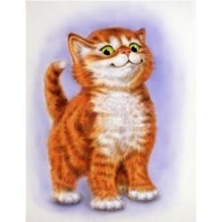 Важный кот, набор для изготовления картины стразами 25х30см 23цв. полная выкладка, АЖ