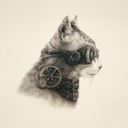 Супер кот, декоративная наволочка на подушку 39Х39см холст, Матрёнин посад