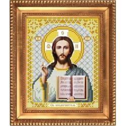 Господь Вседержитель в белом, ткань с рисунком для вышивки бисером 13,5х16,5см. Благовест