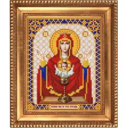 Неупиваемая Чаша Богородица, тткань с рисунком для вышивки бисером 13,5х16,5см. Благовест
