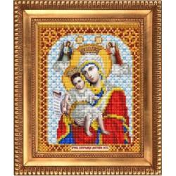 Достойно есть Пресвятая Богородица, ткань с рисунком для вышивки бисером 13,5х16,5см. Благовест