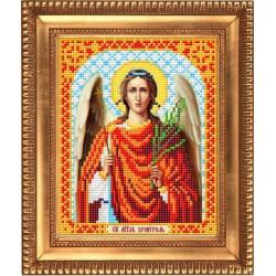Ангел Хранитель, ткань с рисунком для вышивки бисером 13,5х16,5см. Благовест