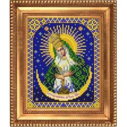 Остробрамская Пресвятая Богородица, ткань с рисунком для вышивки бисером 13,5х16,5см. Благовест